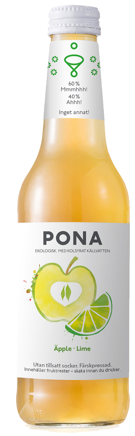 pona ekologisk hälsodryck äpple lime